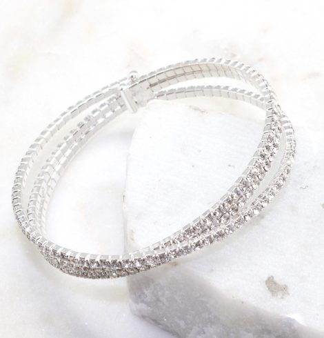 A photo of the Double Rhinestone Bracelet product