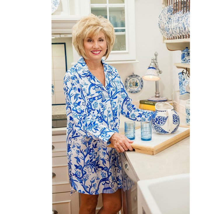 A photo of the Birds of Feather Sateen Sleep Shirt product