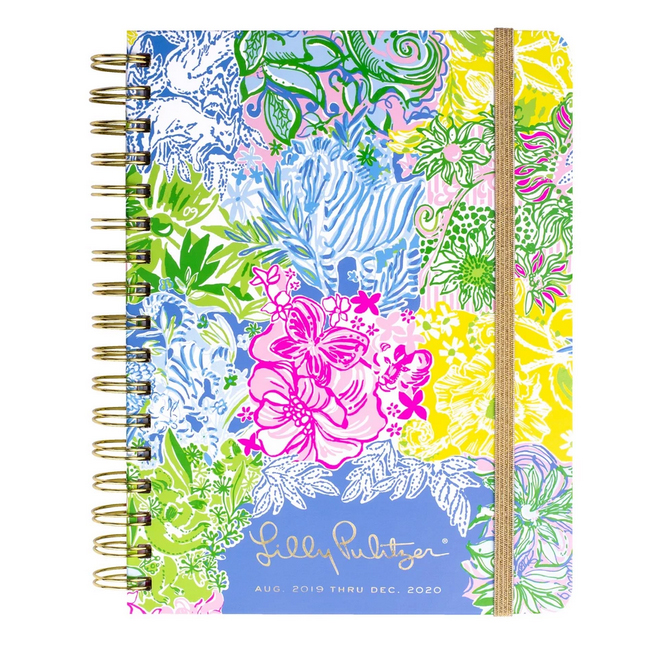 A photo of the Medium Lilly Pulitzer 17 Month Agenda in Cheek To Cheek product