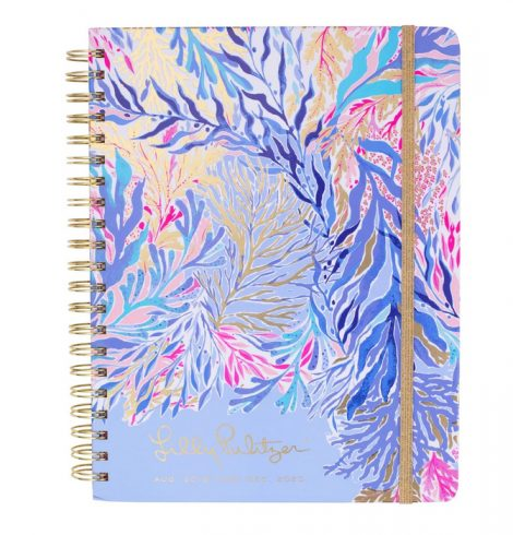 Large Lilly Pulitzer 17 Month Agenda in Kaleidoscope Coral