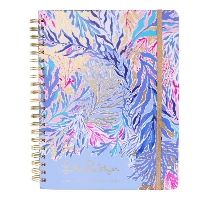 A photo of the Large Lilly Pulitzer 17 Month Agenda in Kaleidoscope Coral product