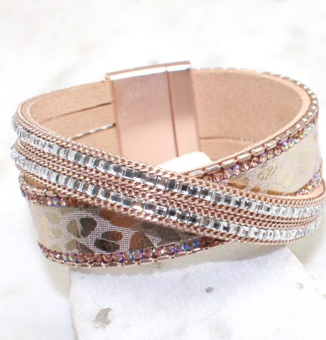 A photo of the Metallic Animal Print Bracelet product