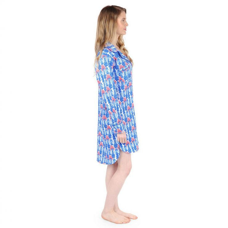 A photo of the Piccadilly Bay Sateen Sleep Shirt product
