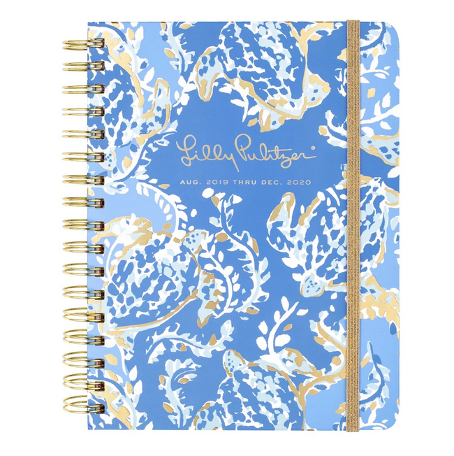 A photo of the Medium Lilly Pulitzer 17 Month Agenda In Turtley Awesome product
