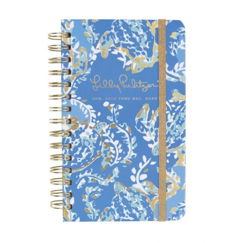 Small Lilly Pulitzer 17 Month Agenda in Turtley Awesome