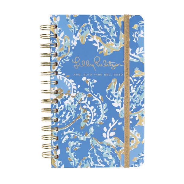 A photo of the Small Lilly Pulitzer 17 Month Agenda in Turtley Awesome product