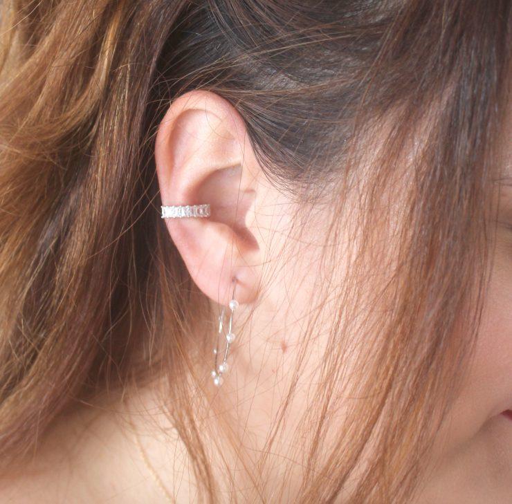 A photo of the Rhinestone Cuff Earring product