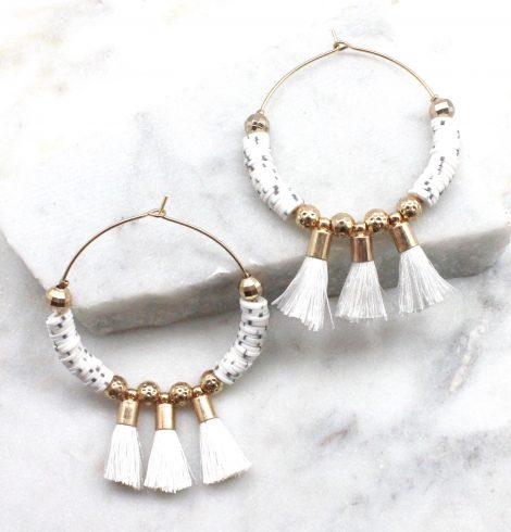 A photo of the Tatum Earrings In White product