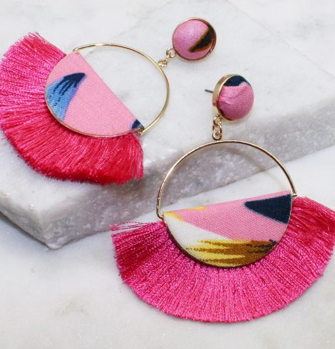 A photo of the Tropicana Fringe Earrings product
