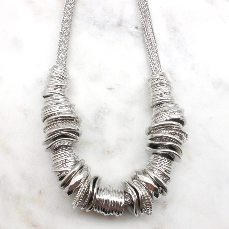 A photo of the Textured Ring Necklace product