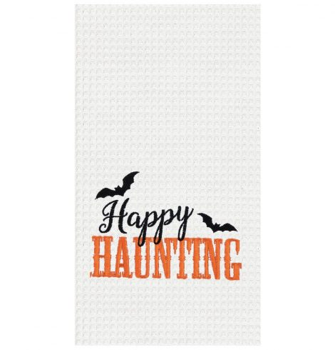 A photo of the Happy Haunting Kitchen Towel product
