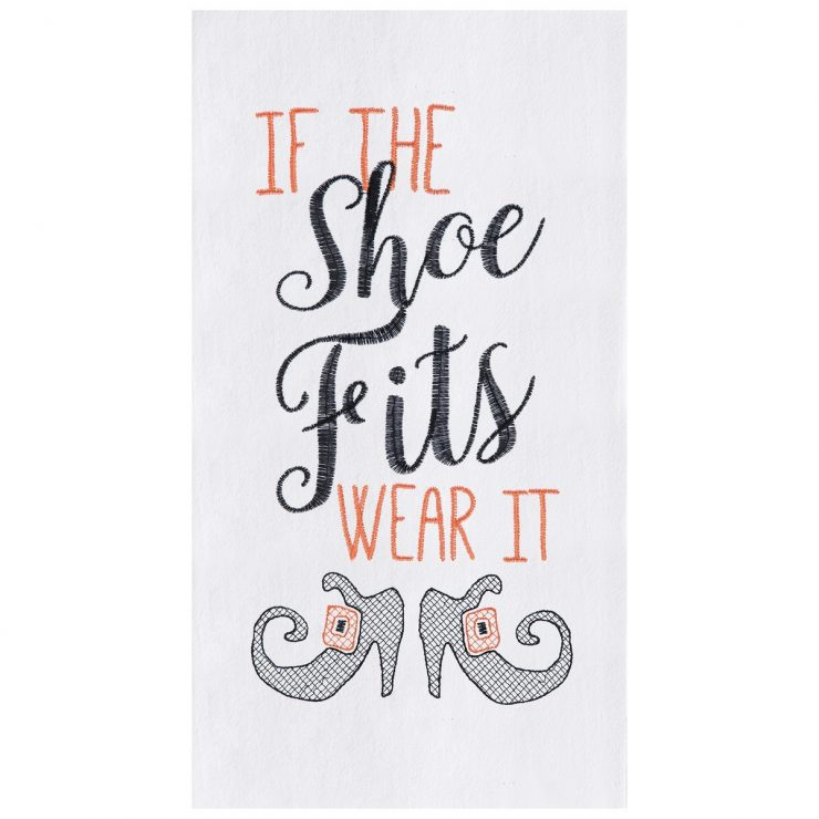 A photo of the If The Shoe Fits Kitchen Towel product