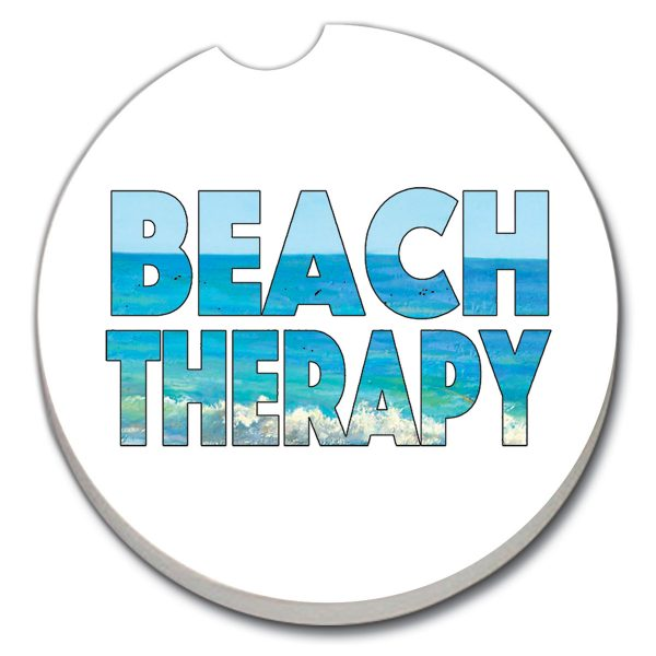A photo of the Beach Therapy Car Coaster product