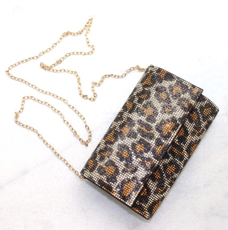 A photo of the Becky Evening Bag In Leopard product