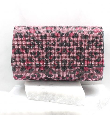 A photo of the Becky Evening Bag In Pink Leopard product
