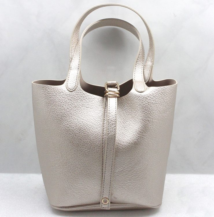 Beth Hand Bag in Gold