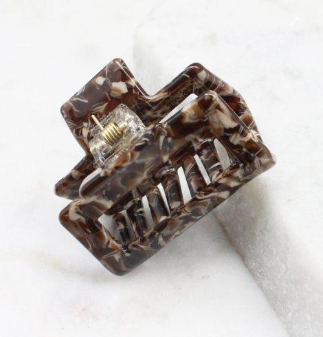 Brown Swirl Claw Clip