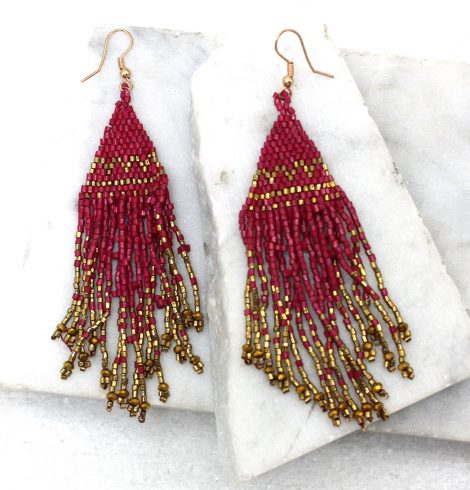 A photo of the Chia Earrings in Pink product