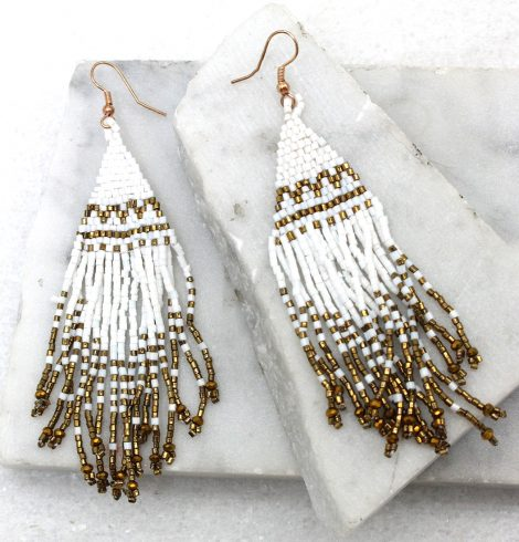 A photo of the Chia Earrings in White product