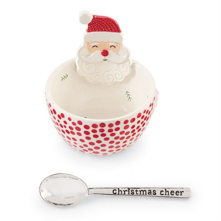 A photo of the Santa Dip Bowl With Spoon product