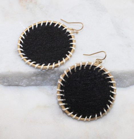 A photo of the Circling Around Earrings In Black product