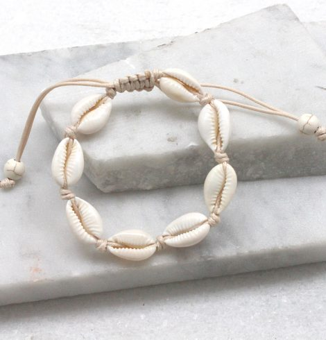 A photo of the Cowrie Bracelet in Beige product