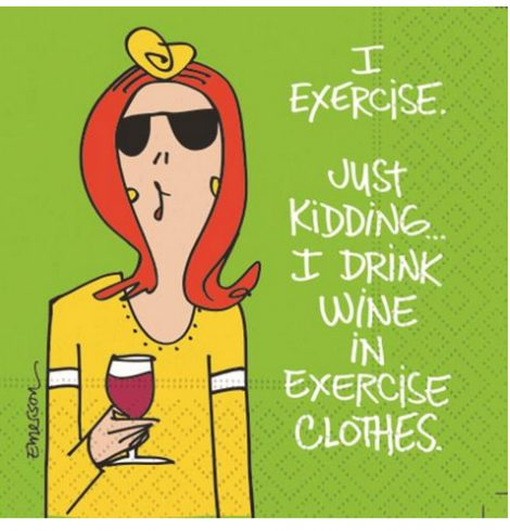 A photo of the Drink Wine In Exercise Clothes Napkins product