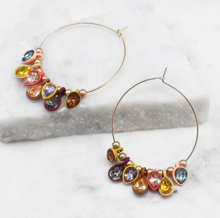 A photo of the Falling For You Earrings product