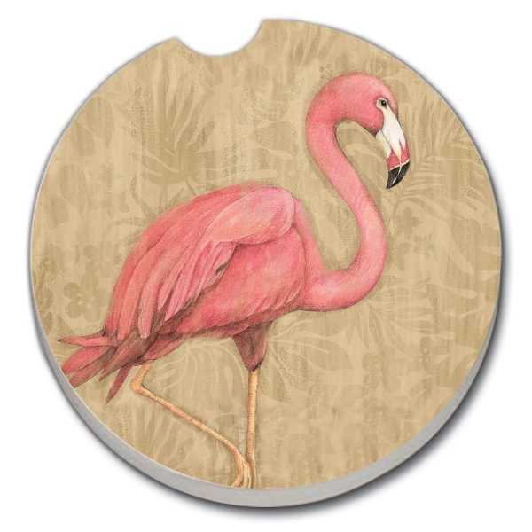 A photo of the Flamingo at Rest Car Coaster product