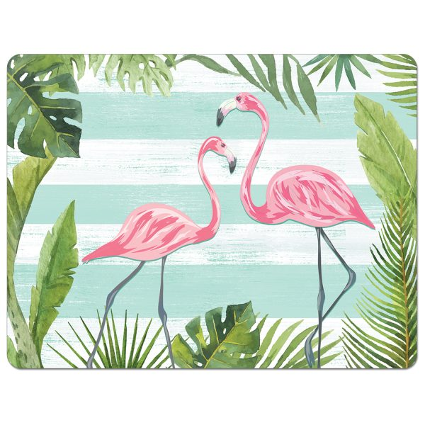 A photo of the Flex Mat Flamingos and Stripes product