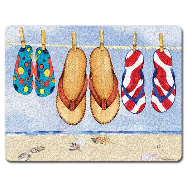 A photo of the Flip Flops Cutting Board product