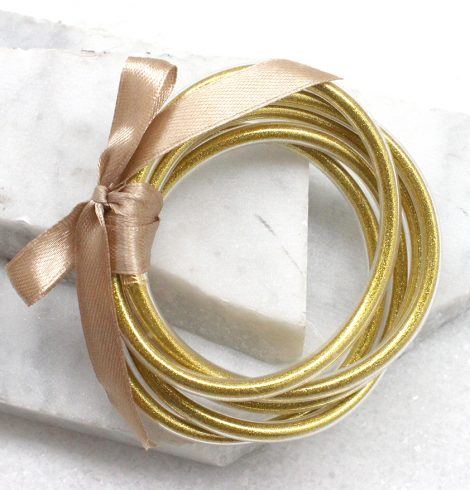 A photo of the Zen Bracelets in Gold product