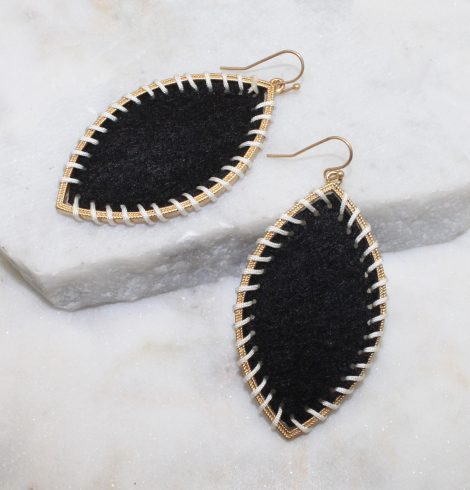 A photo of the Gypsy Earrings In Black product