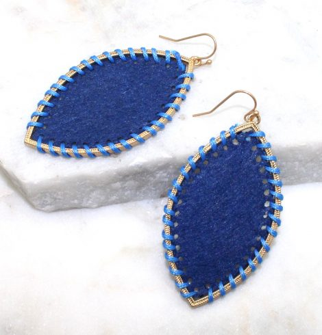 A photo of the Gypsy Earrings In Blue product