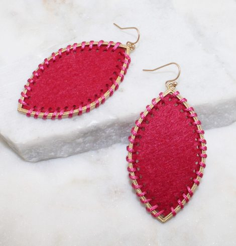 A photo of the Gypsy Earrings In Hot Pink product