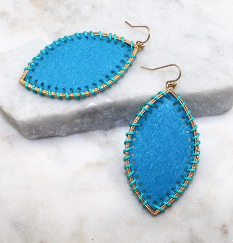 A photo of the Gypsy Earrings In Turquoise product