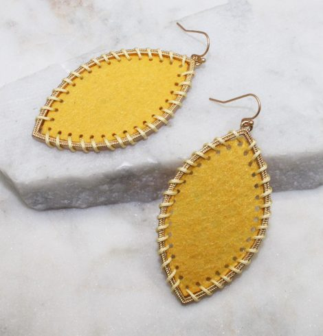 A photo of the Gypsy Earrings In Yellow product