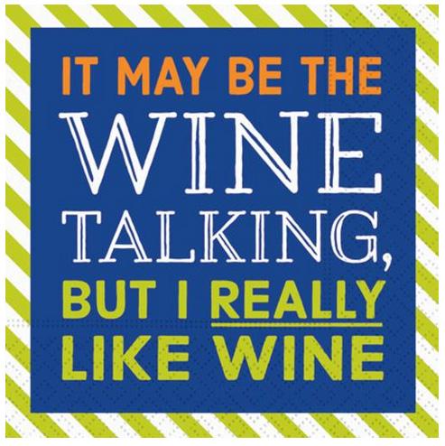 A photo of the I Really Like Wine Napkins product