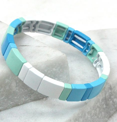 A photo of the In the Marina Color Block Bracelet product