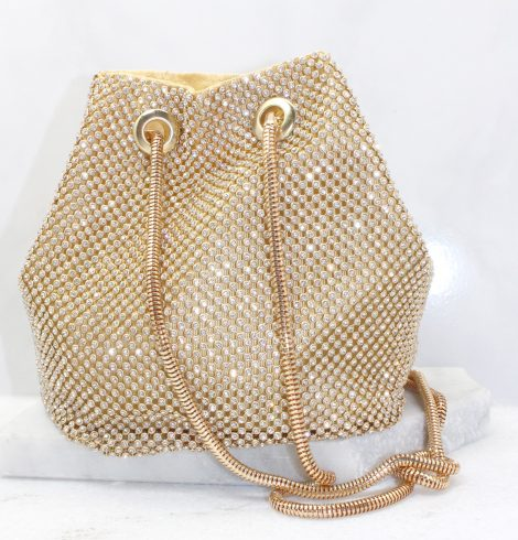 A photo of the Kiki Evening Bag In Gold product