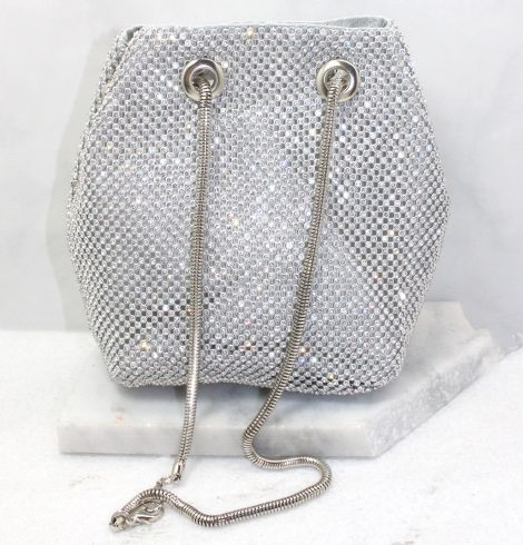 A photo of the Kiki Evening Bag In Silver product