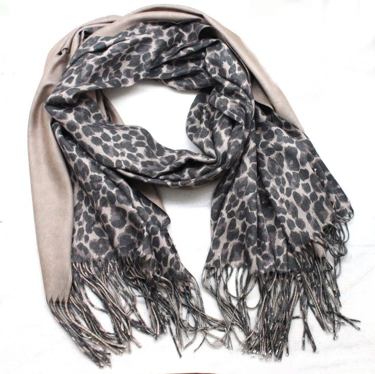 A photo of the Leaping Leopard Scarf product