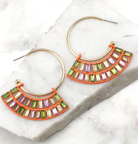 A photo of the Sweet Earrings in Mixed Fruit product