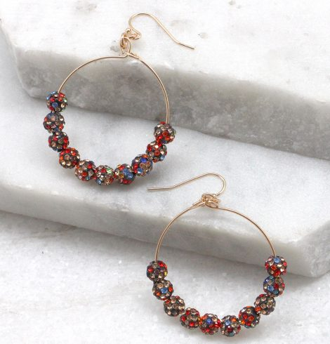 A photo of the Fireball Hoops in Multi Color product