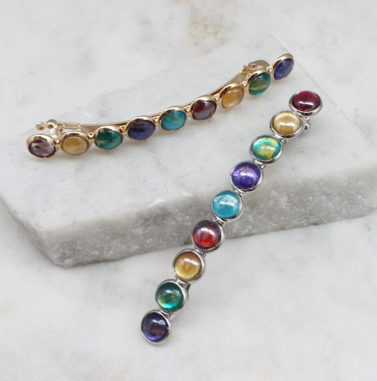 A photo of the Multi Colored Hair Barrette product
