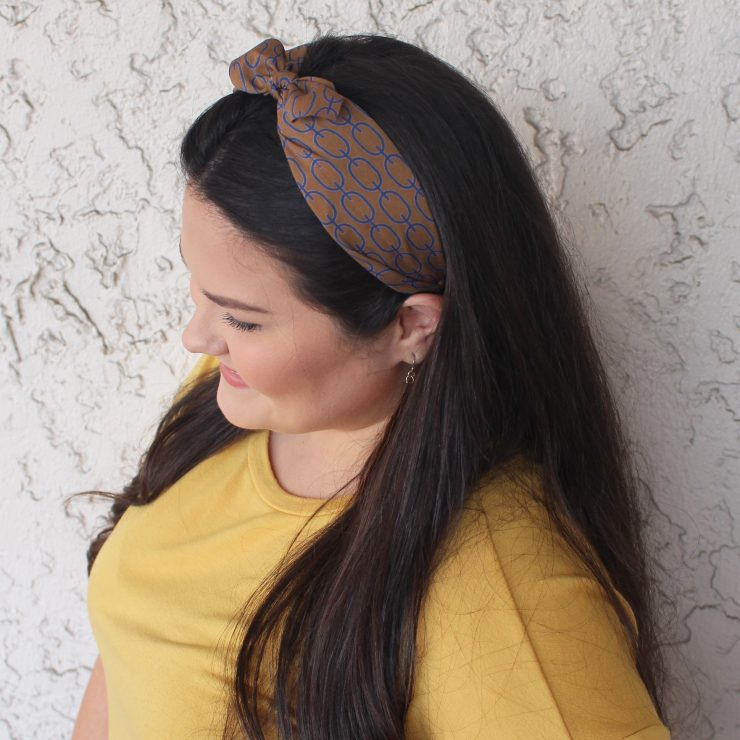 A photo of the Brown & Teal Swirl Headband product