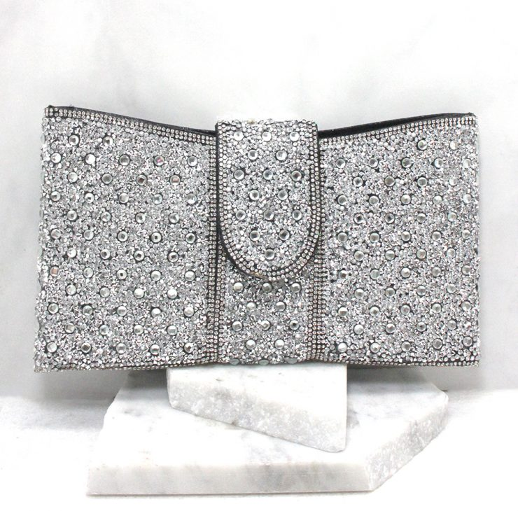 A photo of the Portia Clutch in Black product