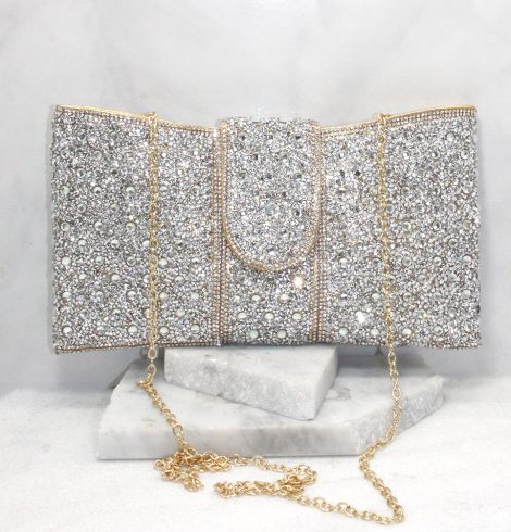 A photo of the Portia Clutch in Gold product