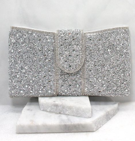 A photo of the Portia Clutch in Silver product