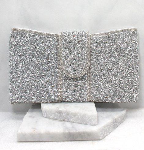 Portia Clutch in Silver